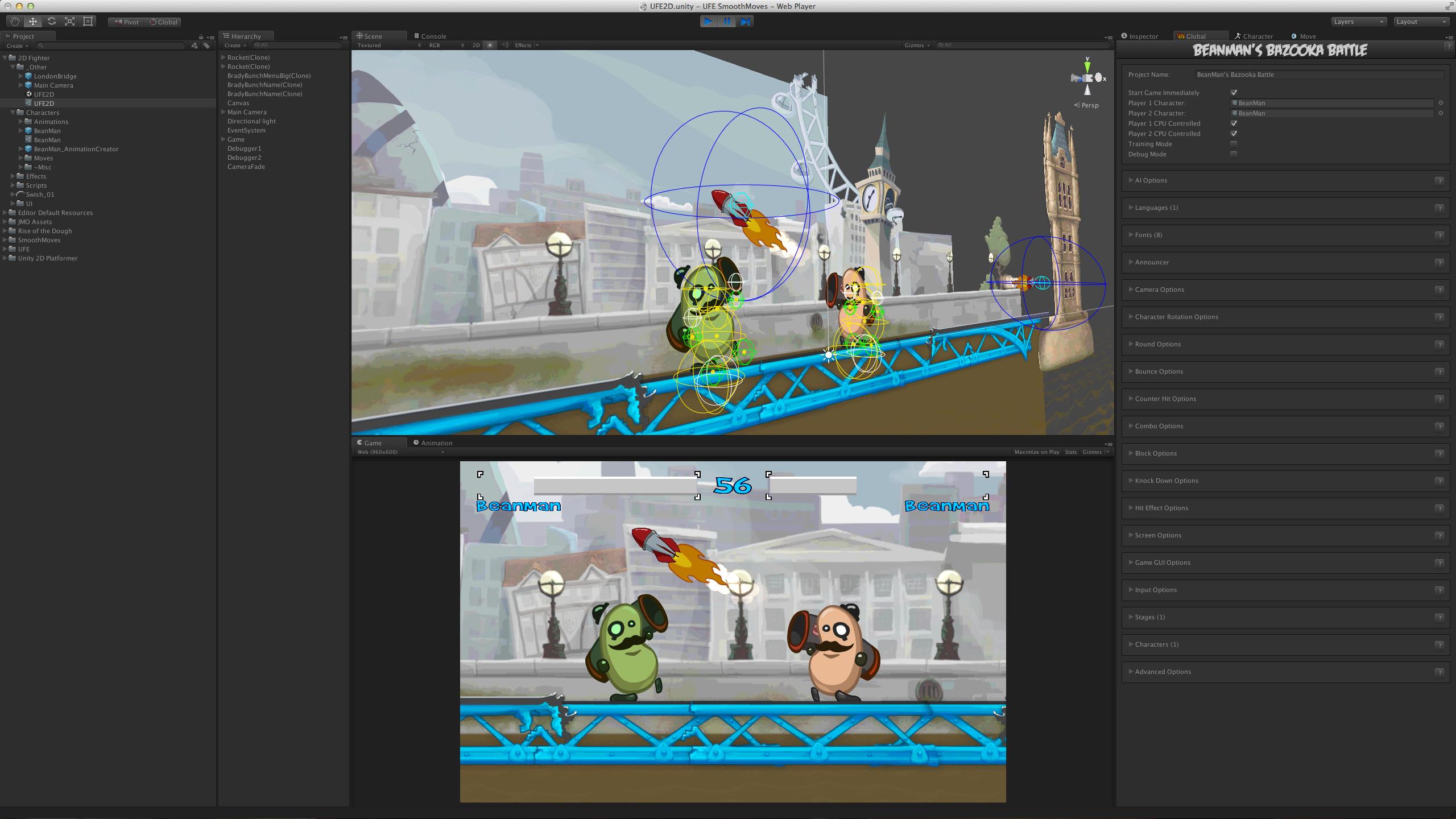 Universal Fighting Engine | BeanMan's Bazooka Battle!